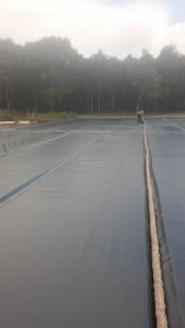 Eb-en Vloed bekleding paardenpiste PVC folie 0,50 mm met ingegraven drainage sleuven